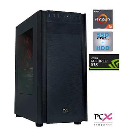 PCX namizni računalnik EXTIAN XA5 AMD R5 2600/8GB/SSD 256GB+HDD 1TB/GTX1650/FreeDOS (PCX EXTIAN XA5)