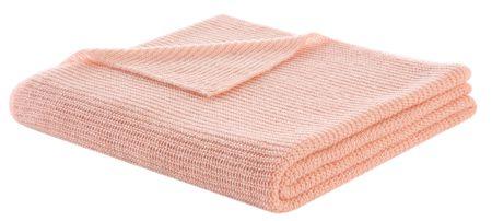 Biederlack Pasztell takaró Rosé Mesh Knit