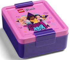 LEGO Friends Girls Rock desiatový set fľaš a box - fialová