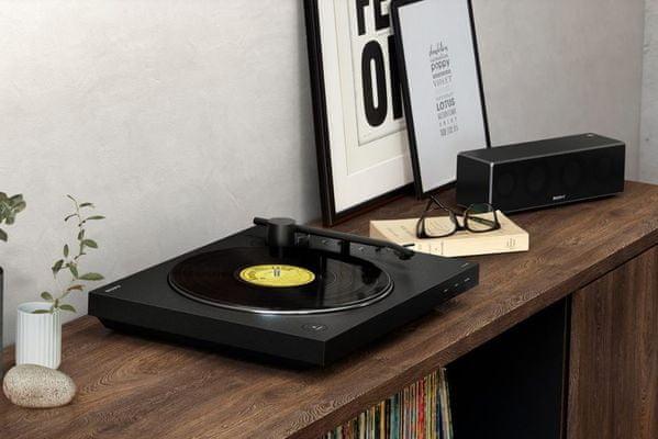 gramofon sony ps-lx310bt automatické přehrávání vypnutí Bluetooth elpíčka gramo desky výstup pro kabel