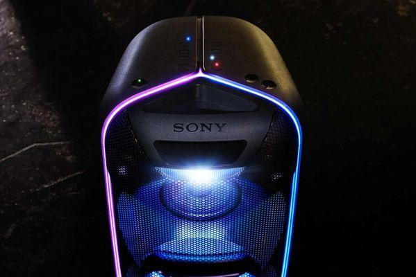 sony gtk-xb72 parti hangszóró bluetooth nfc parti karaoke fiestable music center stroboszkóp led diódák