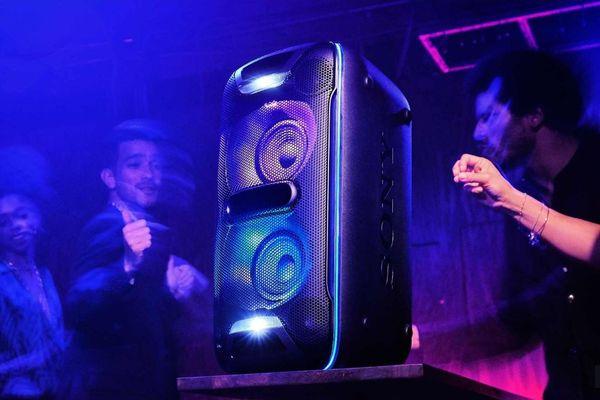 sony gtk-xb72 parti hangszóró bulik dsp extra bass live sound nfc Bluetooth erős basszusok