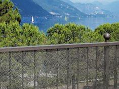 TENAX SPA Plastové pletivo AIRY výška 1m - stříbrná barva