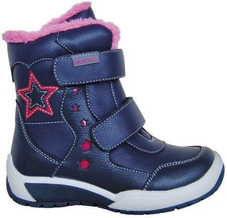 dievčenské zimné topánky Evelin 27 modrá