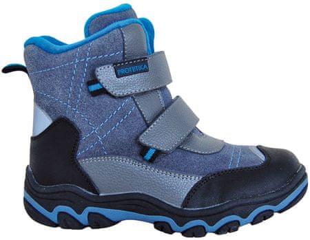 chlapčenské zimné topánky Hant 31 sivá / modrá