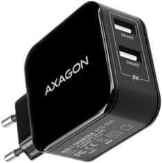 AXAGON dual SMART nabíječka do sítě, 2x port 5V-2.6A + 2.6A, 26 W, ACU-5V4