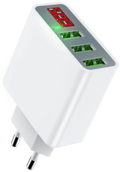 Mcdodo Digital Display nabíječka s 3xUSB bez kabelu, bílá, CH-5030