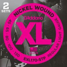 Daddario EXL170-5TP Struny na päťstrunovú basgitaru (2 súpravy)