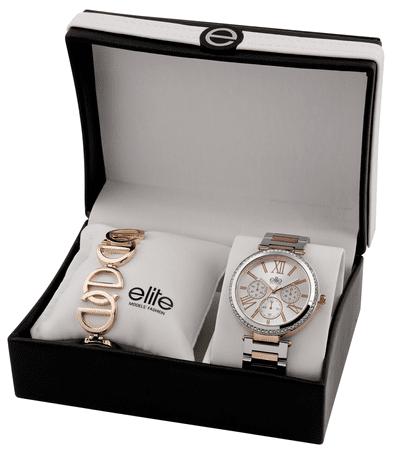 Elite Models dámská sada hodinek a náramku E54794-304