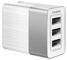 Mcdodo Cube nabíječka 3xUSB bez kabelu, 3,4A, bílá, CH-5340