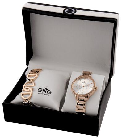 Elite Models dámska sada hodiniek a náramku E54874-804
