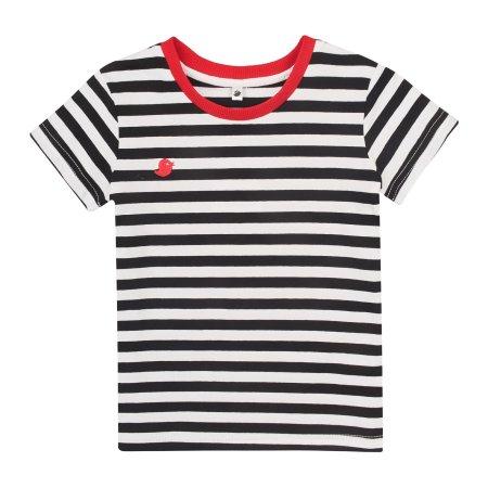 Garnamama koszulka chłopięca 116 biało-czerwona
