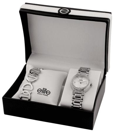 Elite Models komplet ženske ročne ure in zapestnice E53684-201