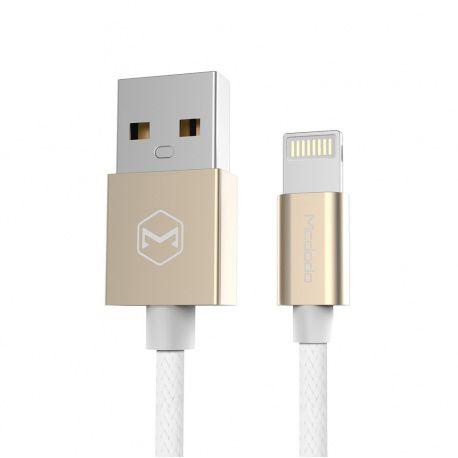 Mcdodo Lightning datový a napájecí kabel s certifikací MFi ( iPhone, iPad, iPod) 1,2m, Zlatá, CA-2051