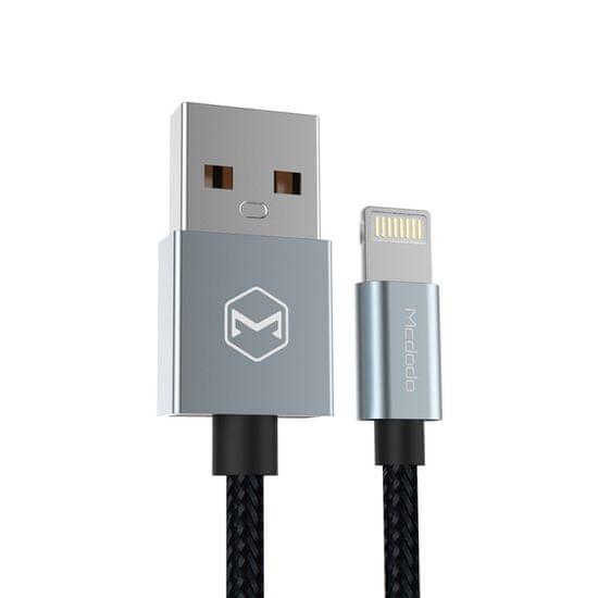 Mcdodo Lightning datový a napájecí kabel s certifikací MFi ( iPhone, iPad, iPod) Šedá, CA-2052