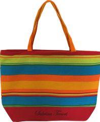 DUE ESSE Plážová taška s farebnými pruhmi C