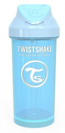 Twistshake Butelka ze słomką 360 ml 12 + m Pastelowy niebieski