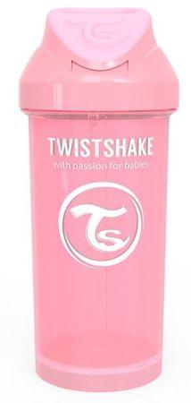 Twistshake Butelka ze słomką 360 ml 12 + m Pastelowy róż