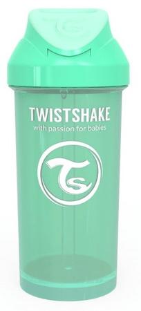 Twistshake Butelka ze słomką 360 ml 12 + m Pastelowy zielony