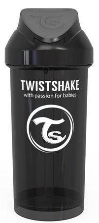 Twistshake Palack szívószállal 360 ml, 12+m Fekete