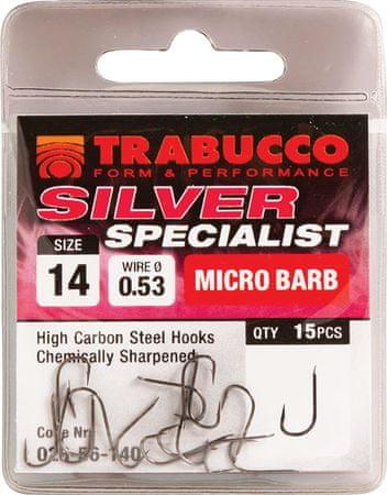 Trabucco Háčky Silver Specialist 15 ks 18
