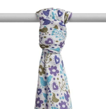 XKKO Bambusz fürdőlepedő 90x100 cm Flowers&Birds Boys kék