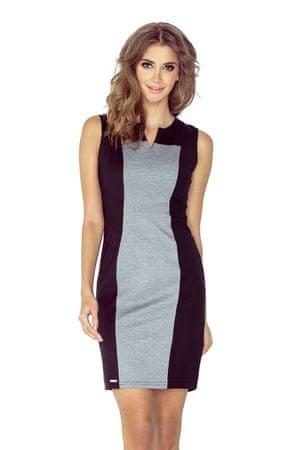 Morimia Női ruha 006-3, fekete-szürke, XS