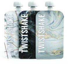 Twistshake Plniteľná kapsička 3x100 ml Mramorovo sivá