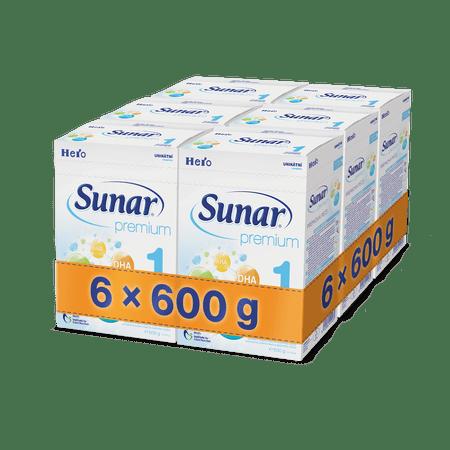 Sunar kojenecké mléko Premium 1 - 6 x 600g