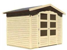 KARIBU dřevěný domek KARIBU AMBERG 3 (82972) natur
