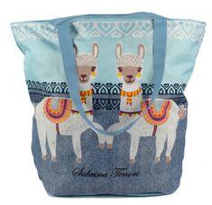 Marex Trade Plážová taška lamy, džíns