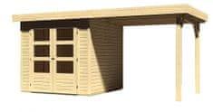 KARIBU dřevěný domek KARIBU ASKOLA 2 + přístavek 240 cm (73245) natur