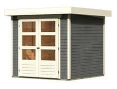 KARIBU dřevěný domek KARIBU ASKOLA 2 (82901) tm. šedý