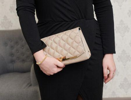 Juno ženska večerna torbica, zlata