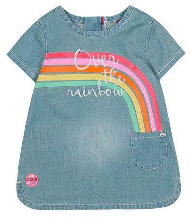 Boboli dívčí džínové šaty 62 modrá