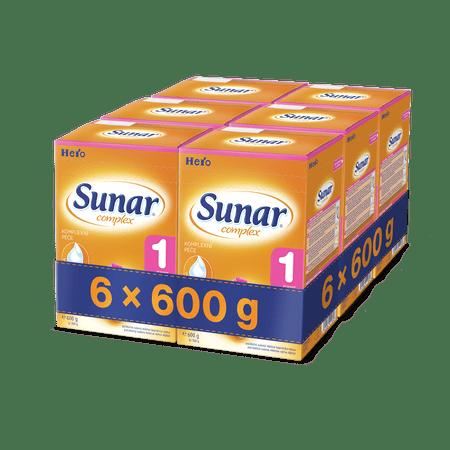 Sunar kojenecké mléko Complex 1 - 6 x 600g