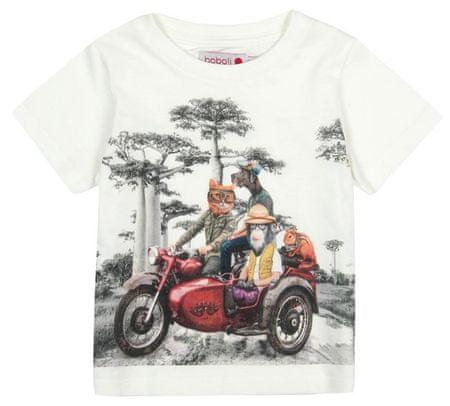 Boboli chlapčenské tričko 86 krémová