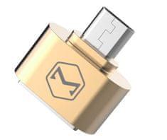 Mcdodo Redukcia z USB 2.0 A / F na microUSB (18x18x9 mm), zlatá, OT-0972