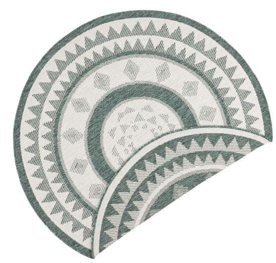 Bougari Kusový koberec Twin Supreme 103415 Jamaica green creme 140x140 (průměr) kruh