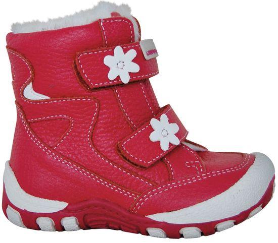 Protetika dívčí zimní boty Mira 21 červená