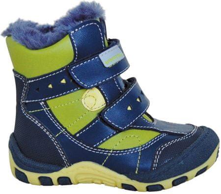 chlapčenské zimné topánky Laros 19 modré/zelené