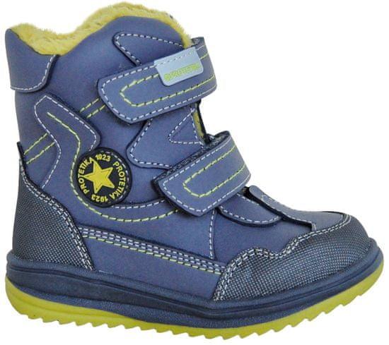 Protetika chlapecké zimní boty Riki 19 šedá/zelená