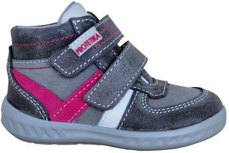 Protetika dievčenské členkové topánky Sendy 22 sivá
