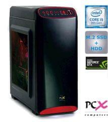 PCX namizni računalnik EXACT i5-9400F/8GB/SSD 250GB+HDD 2TB/GTX1660/FreeDOS (PCX EXACT GAMER S3.1)