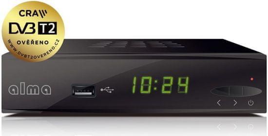 Alma 2860 DVB-T/T2 (HEVC) přijímač - zánovní