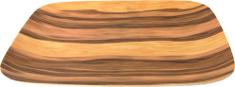 DUE ESSE Talíř hranatý Bamboo Nature 22 cm, tmavý