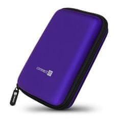 """Connect IT HardShellProtect pevné skořepinové ochranné pouzdro na 2,5"""" HDD, modré, CFF-5000-BL"""
