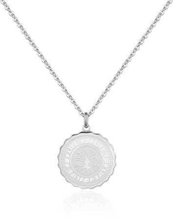 S'Agapõ Stalowy naszyjnik Life Coin SKY07
