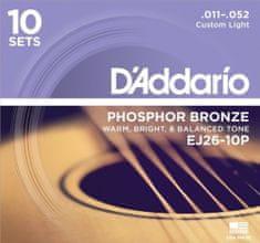 Daddario EJ26-10P Kovové struny na akustickú gitaru