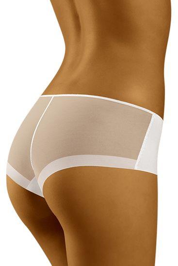 Wolbar Dámske nohavičky Evita white + Nadkolienky Sophia 2pack visone, biela, XL